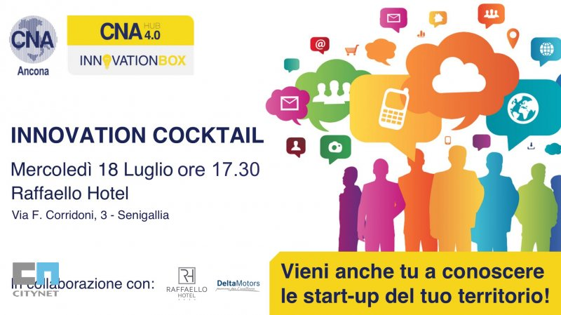 Citynet a Innovation Cocktail evento di Innovation Box di CNA Ancona