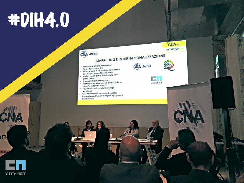 Citynet partner strategico Digital Innovation Hub 4.0 CNA Ancona