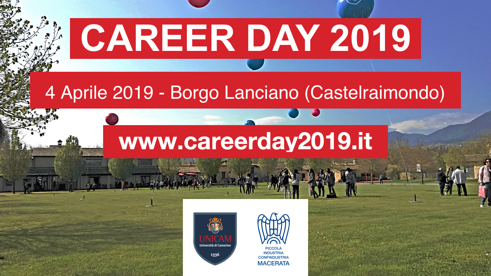 SERVIZI PER L'EDUCATIONAL - Career Day UNICAM 2019: una partnership sempre più solida