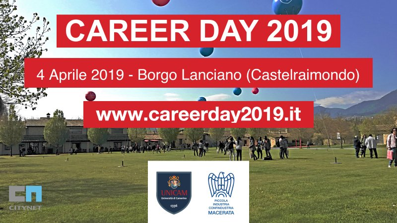 Career Day UNICAM 2019: la partnership con Citynet
